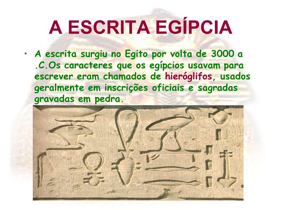 A ESCRITA EGÍPCIA