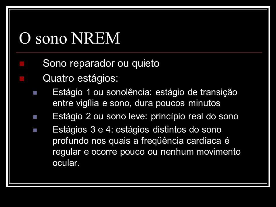 O sono NREM Sono reparador ou quieto Quatro estágios: