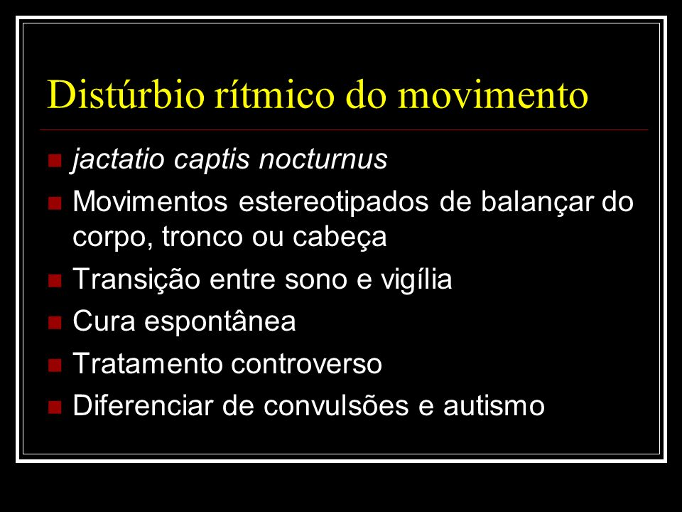 Distúrbio rítmico do movimento