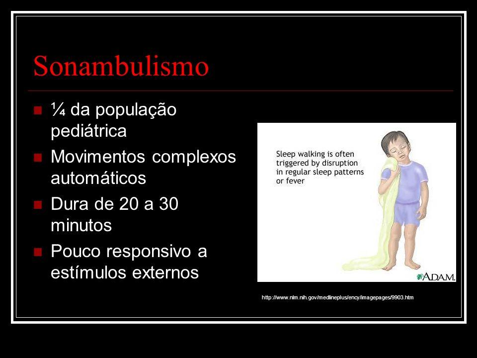 Sonambulismo ¼ da população pediátrica