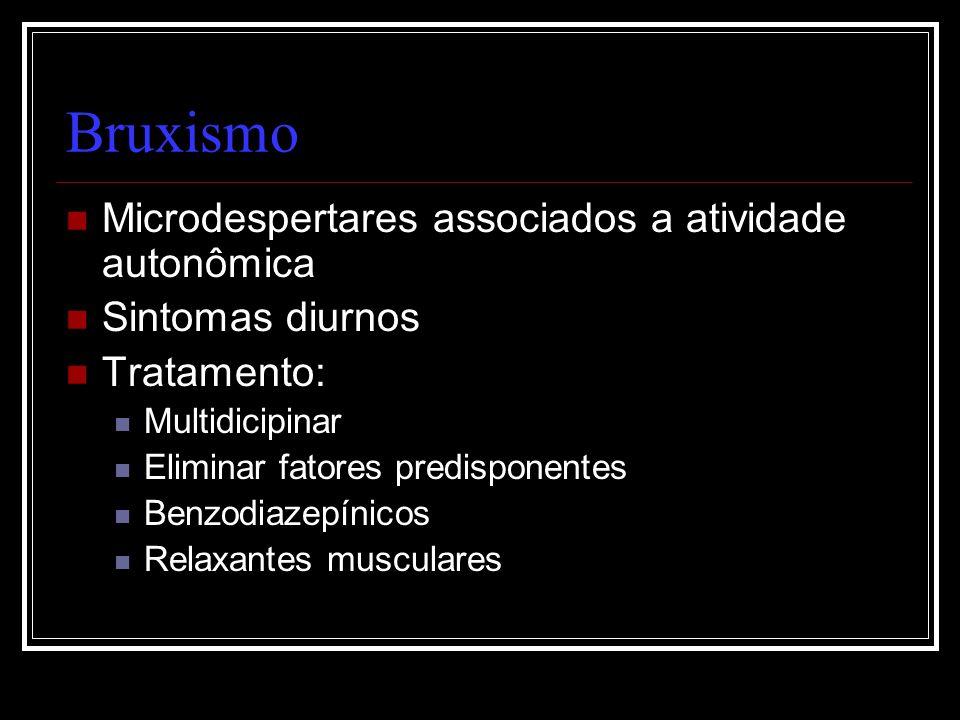 Bruxismo Microdespertares associados a atividade autonômica
