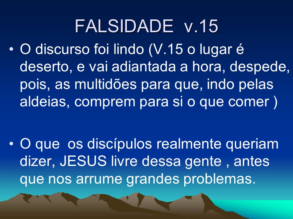 FALSIDADE v.15