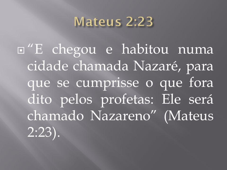 Mateus 2:23