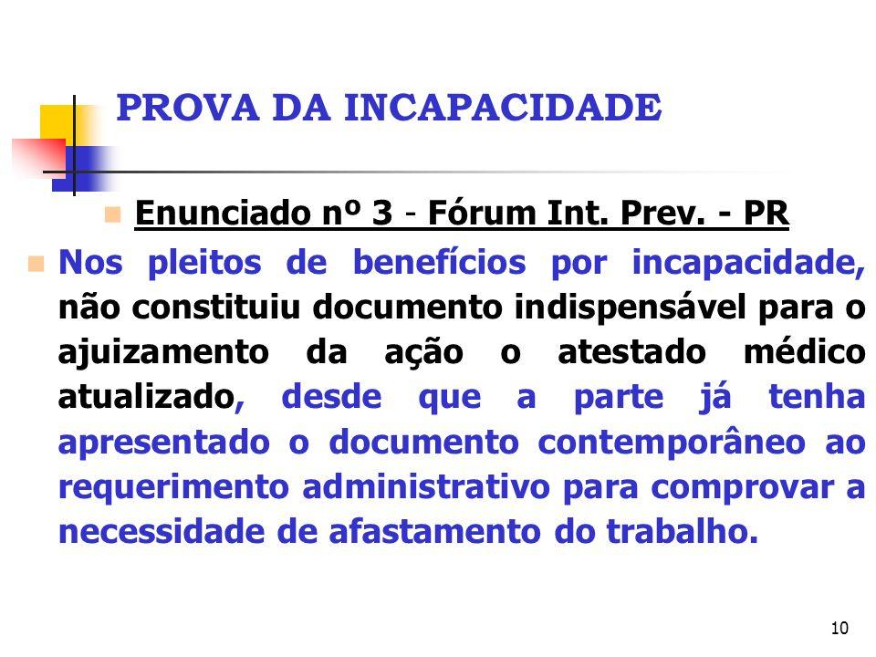 Enunciado nº 3 - Fórum Int. Prev. - PR