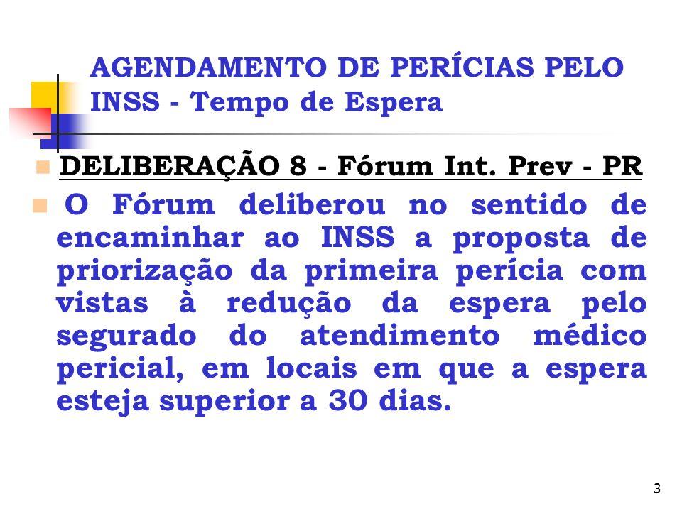 AGENDAMENTO DE PERÍCIAS PELO INSS - Tempo de Espera