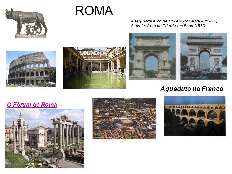 ROMA Aqueduto na França O Fórum de Roma