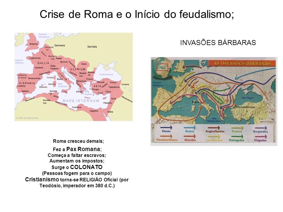 Crise de Roma e o Início do feudalismo;