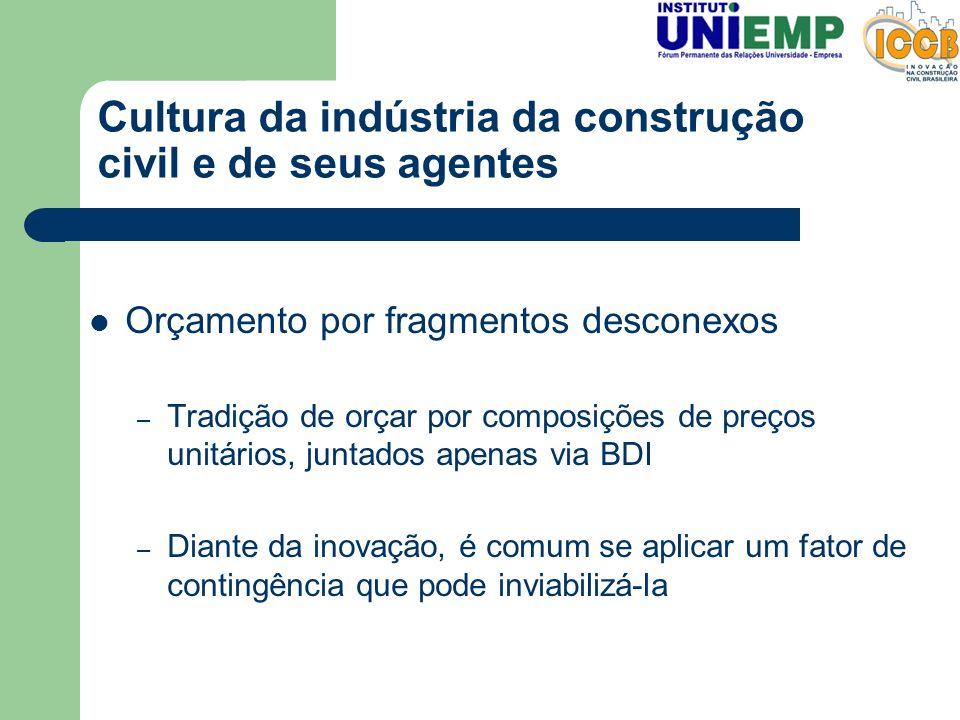 Cultura da indústria da construção civil e de seus agentes