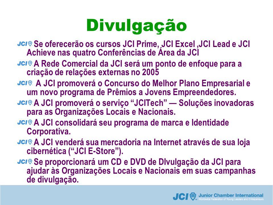 Divulgação Se oferecerão os cursos JCI Prime, JCI Excel ,JCI Lead e JCI Achieve nas quatro Conferências de Área da JCI.