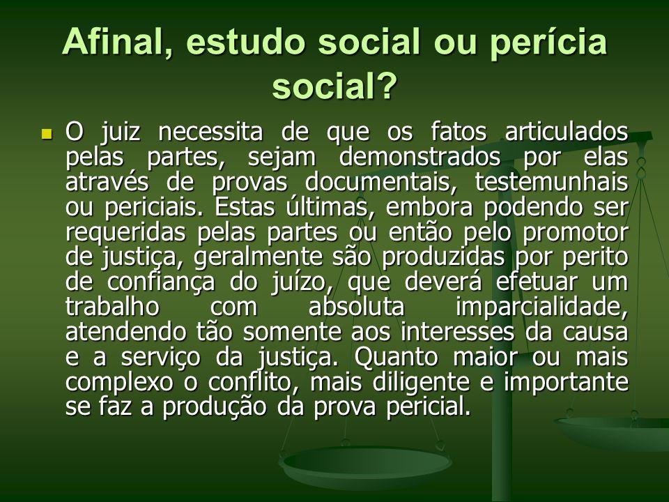 Afinal, estudo social ou perícia social