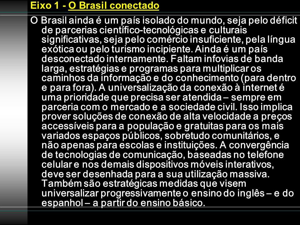 Eixo 1 - O Brasil conectado