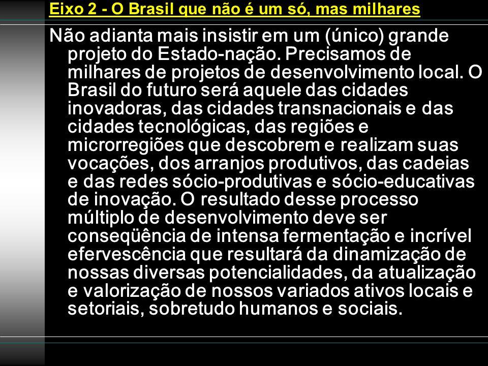 Eixo 2 - O Brasil que não é um só, mas milhares