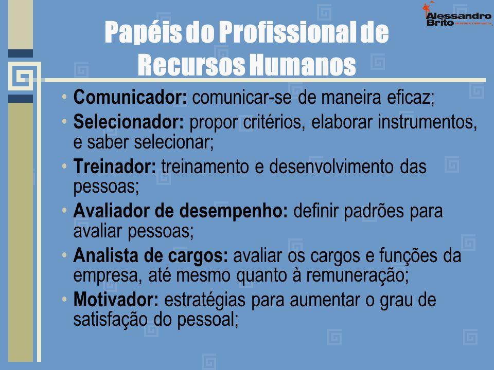 Papéis do Profissional de Recursos Humanos
