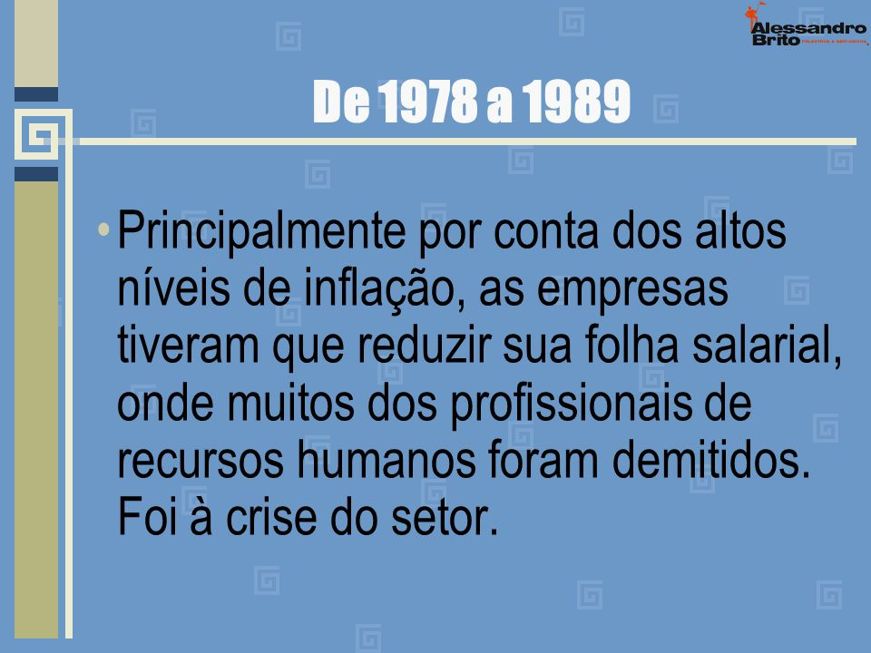 De 1978 a 1989