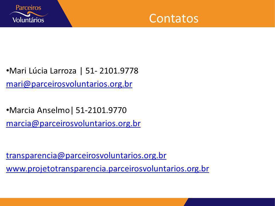 Contatos Mari Lúcia Larroza | 51- 2101.9778