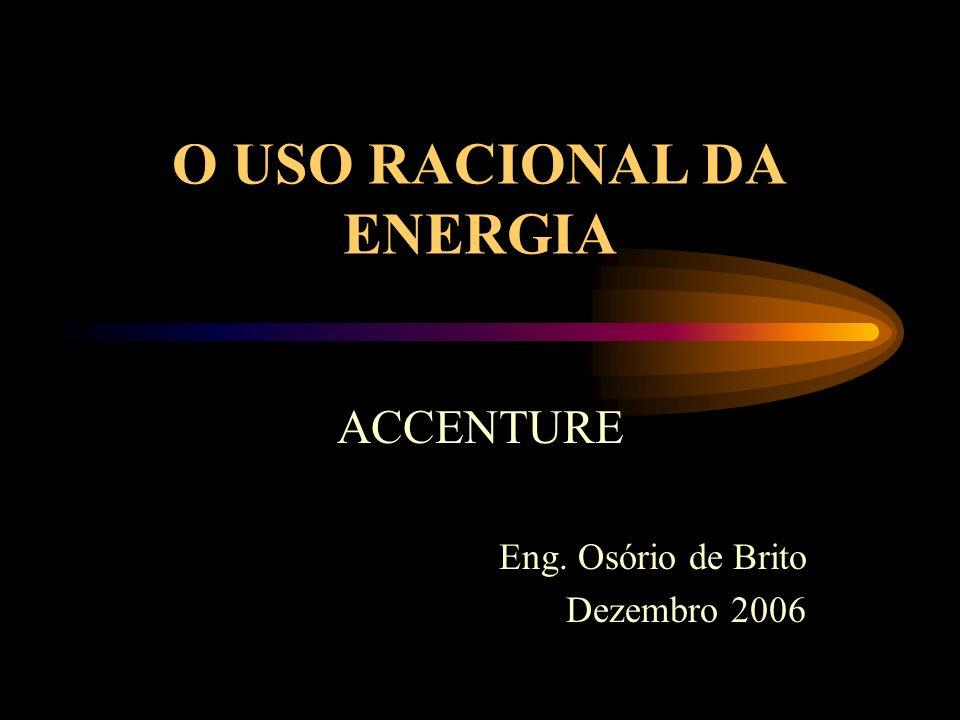 O USO RACIONAL DA ENERGIA