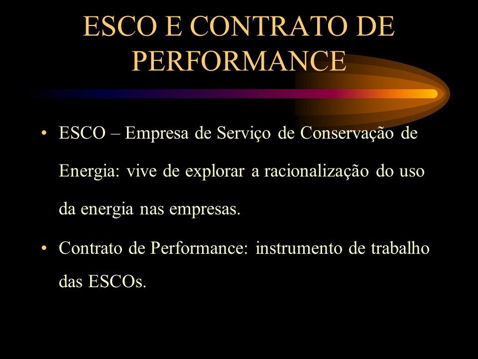 ESCO E CONTRATO DE PERFORMANCE