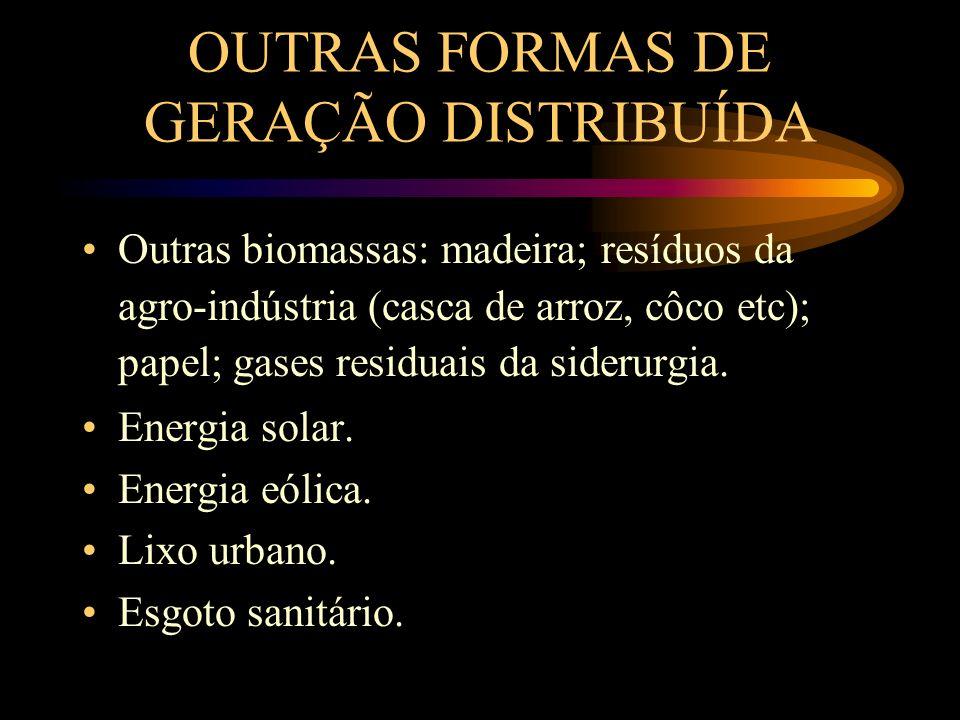 OUTRAS FORMAS DE GERAÇÃO DISTRIBUÍDA