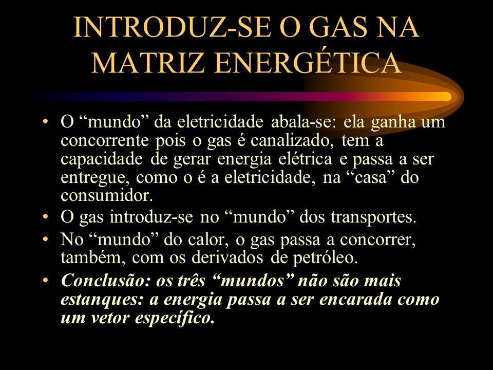 INTRODUZ-SE O GAS NA MATRIZ ENERGÉTICA