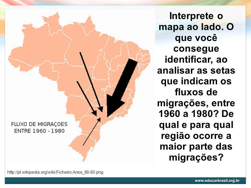 Interprete o mapa ao lado