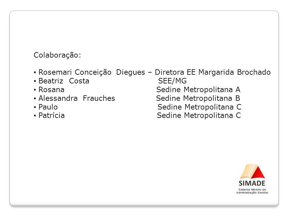 Colaboração: Rosemari Conceição Diegues – Diretora EE Margarida Brochado. Beatriz Costa SEE/MG.