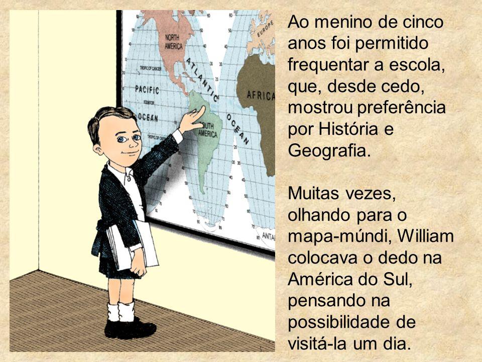 Ao menino de cinco anos foi permitido frequentar a escola, que, desde cedo, mostrou preferência por História e Geografia.