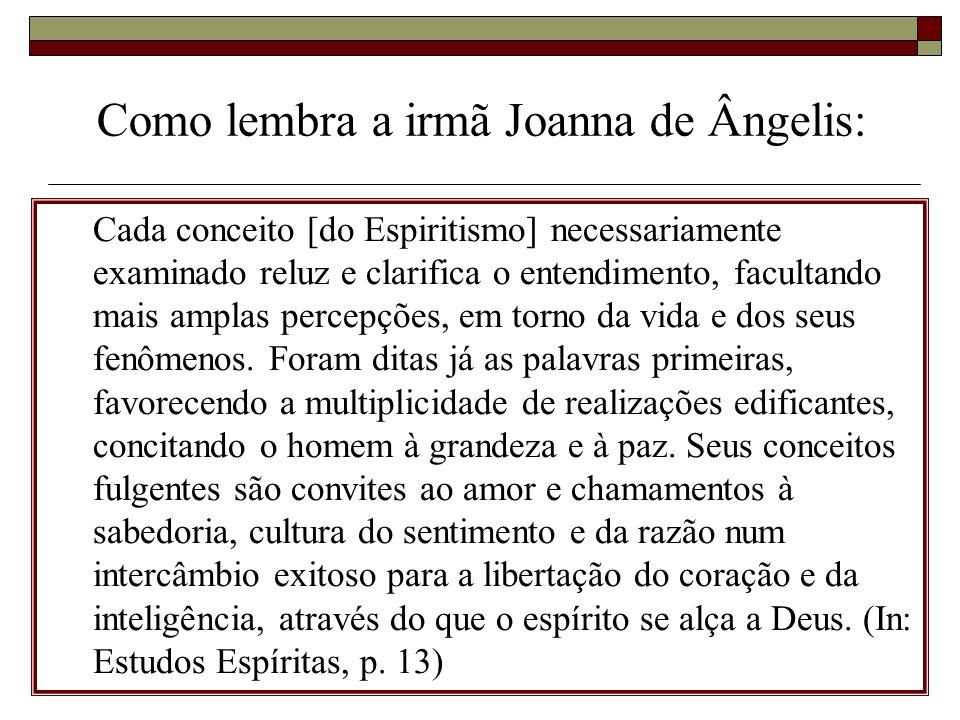 Como lembra a irmã Joanna de Ângelis: