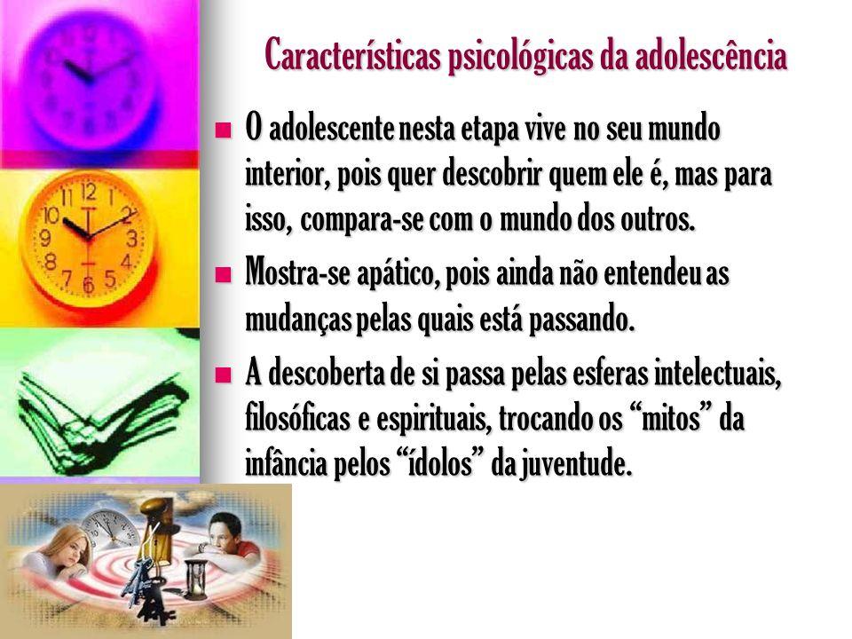 Características psicológicas da adolescência