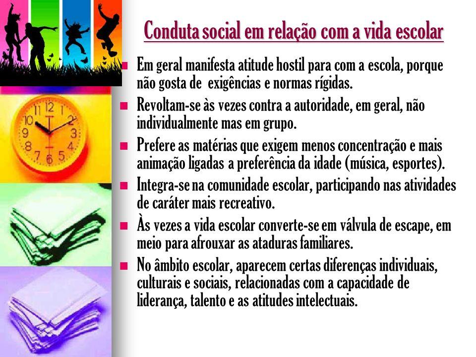 Conduta social em relação com a vida escolar