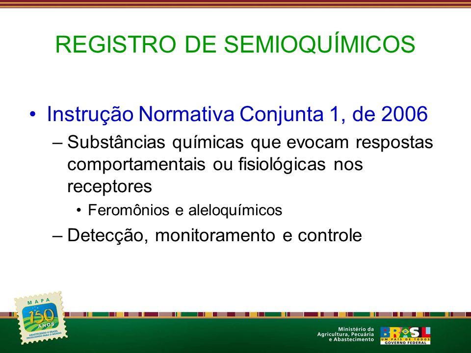 REGISTRO DE SEMIOQUÍMICOS