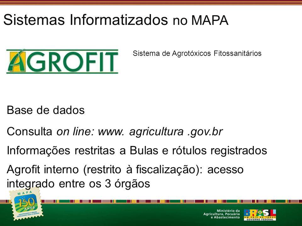 Sistemas Informatizados no MAPA