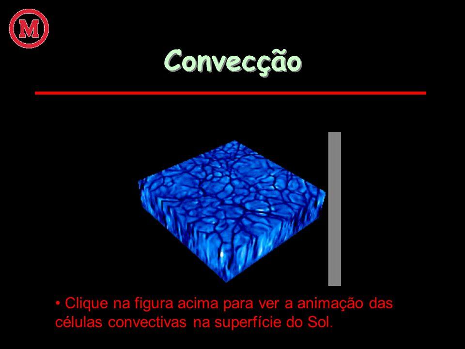 Convecção Clique na figura acima para ver a animação das células convectivas na superfície do Sol.