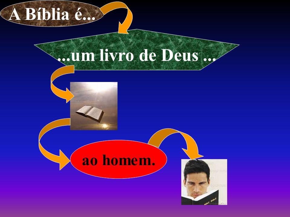 A Bíblia é... ...um livro de Deus ...