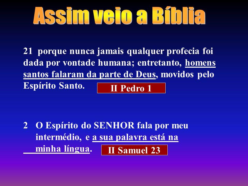 Assim veio a Bíblia