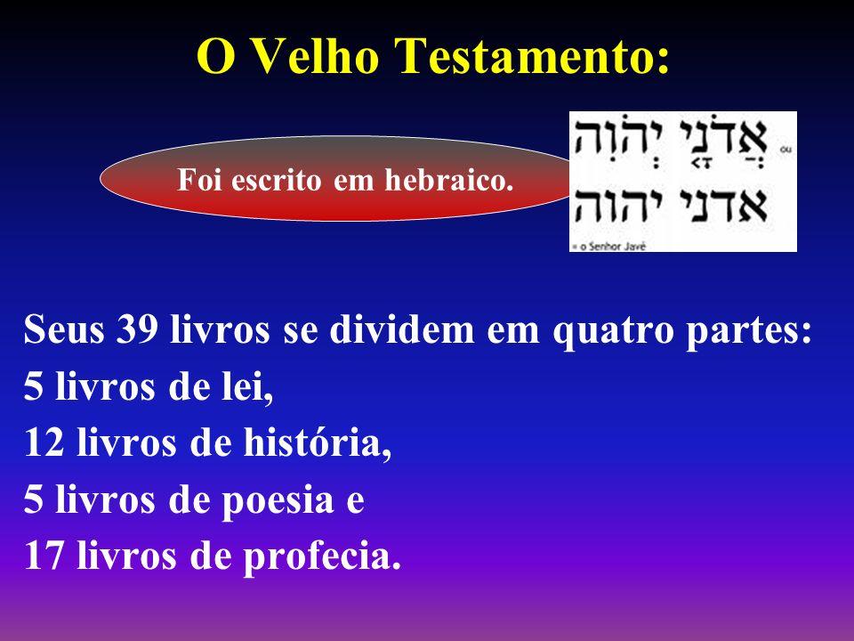 Foi escrito em hebraico.