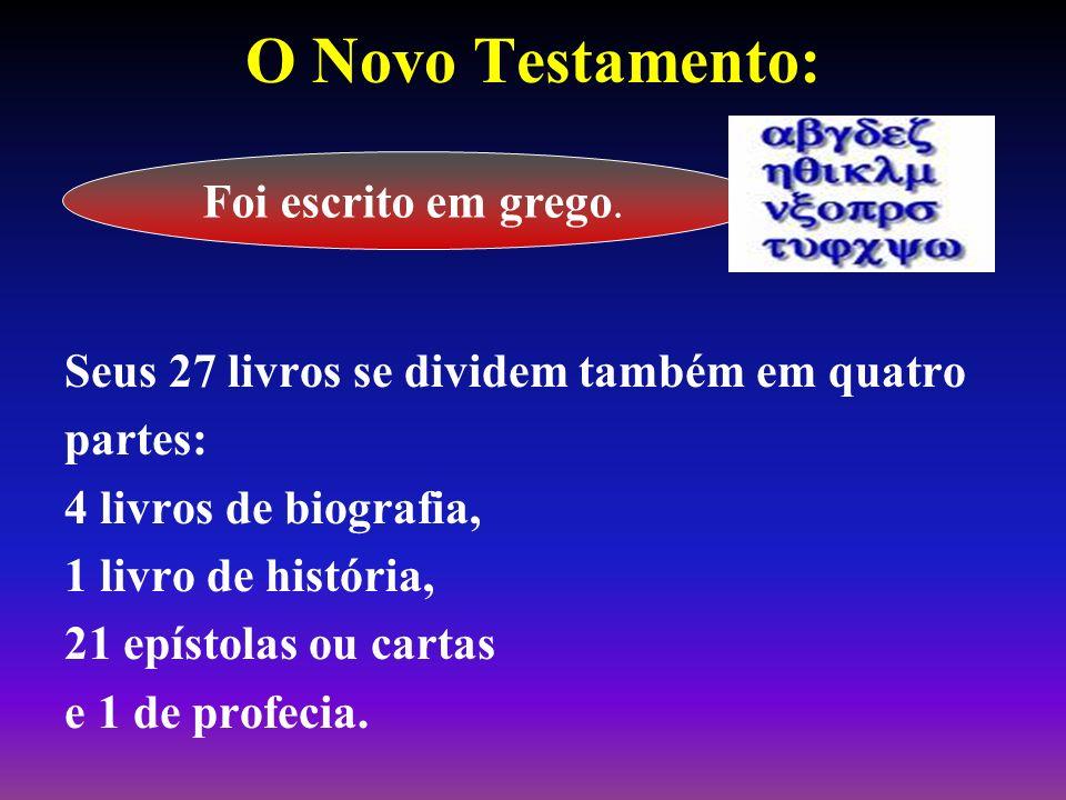 O Novo Testamento: Foi escrito em grego.
