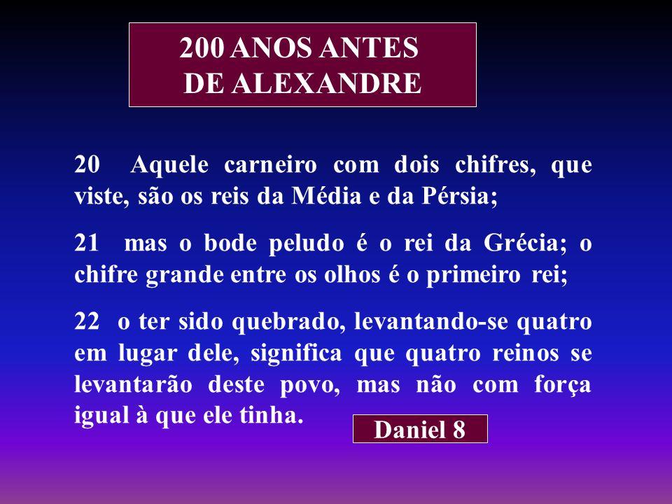 200 ANOS ANTES DE ALEXANDRE