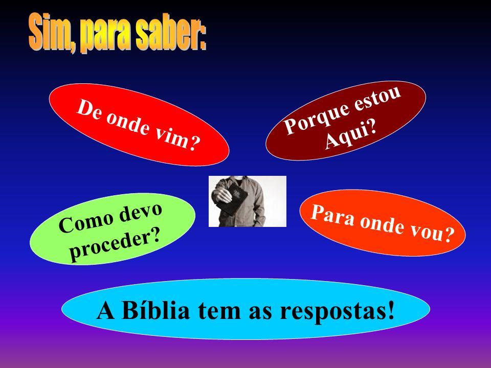 A Bíblia tem as respostas!