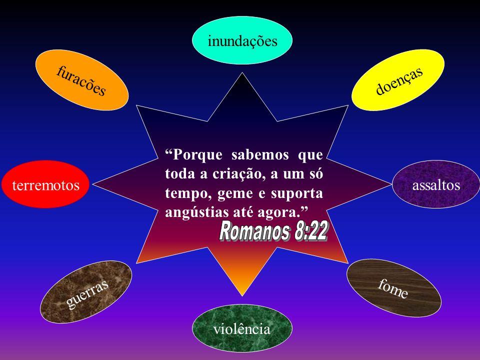 Romanos 8:22 inundações furacões doenças