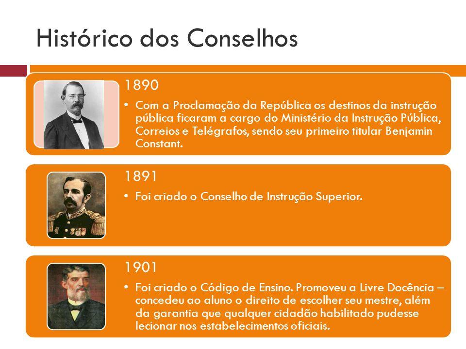 Histórico dos Conselhos