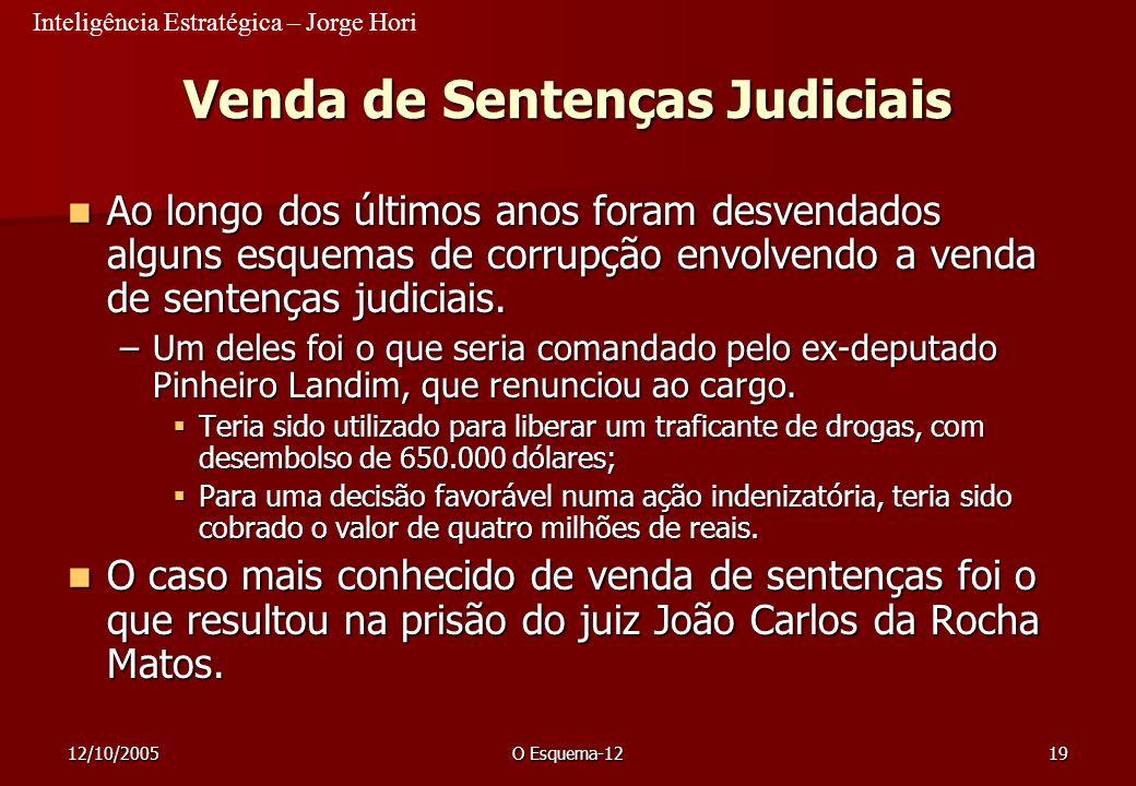 Venda de Sentenças Judiciais