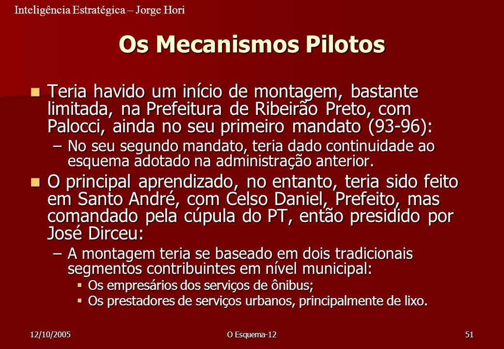 23/03/2017 Os Mecanismos Pilotos.