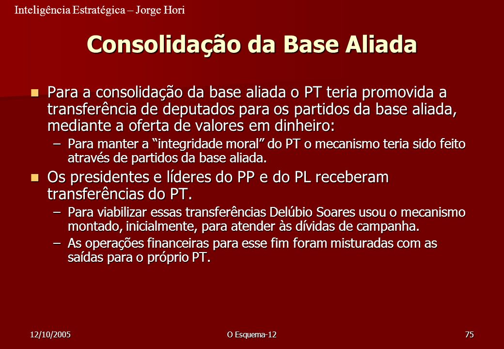 Consolidação da Base Aliada