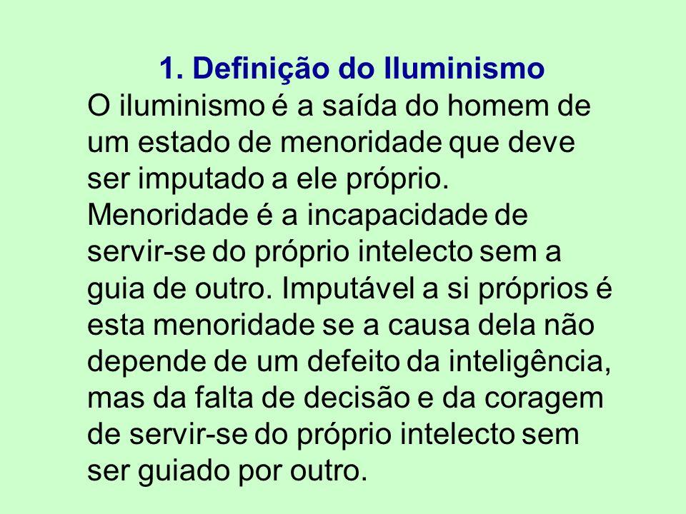 1. Definição do Iluminismo