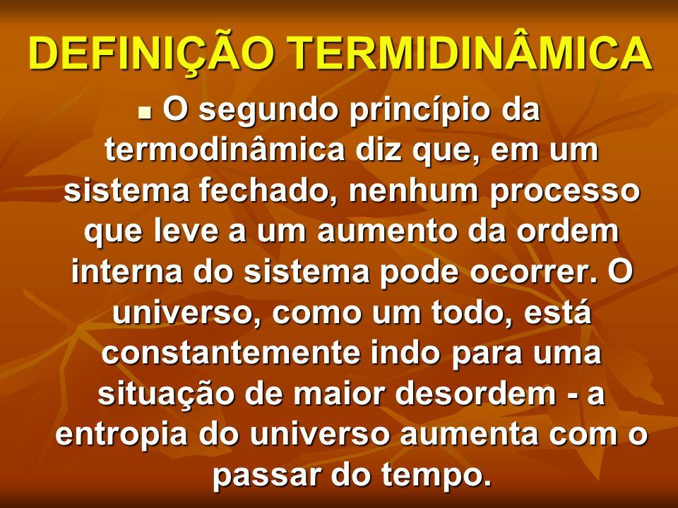 DEFINIÇÃO TERMIDINÂMICA
