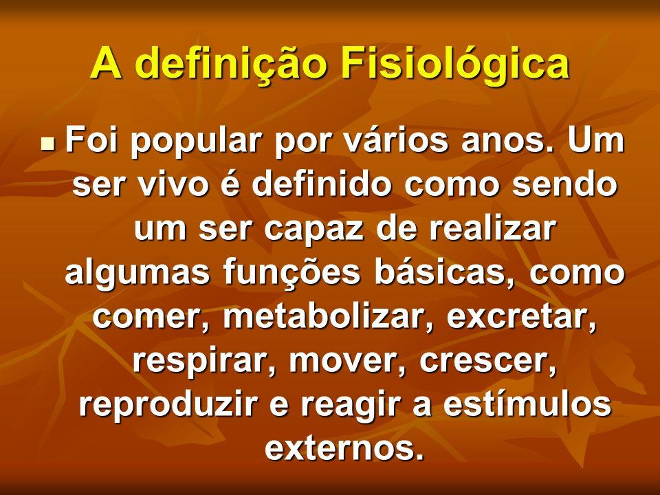 A definição Fisiológica