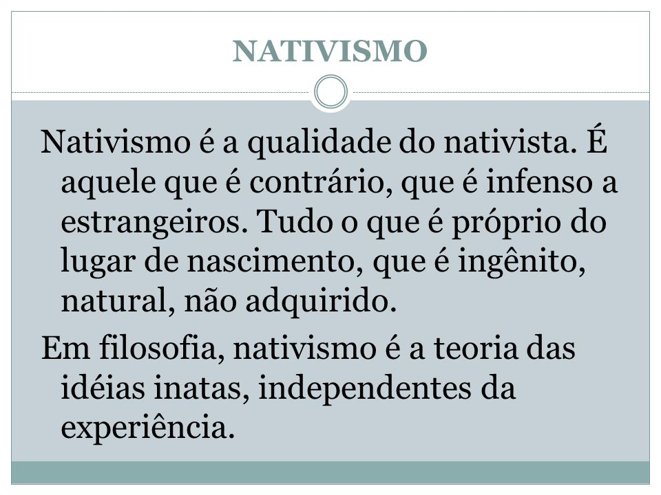 NATIVISMO