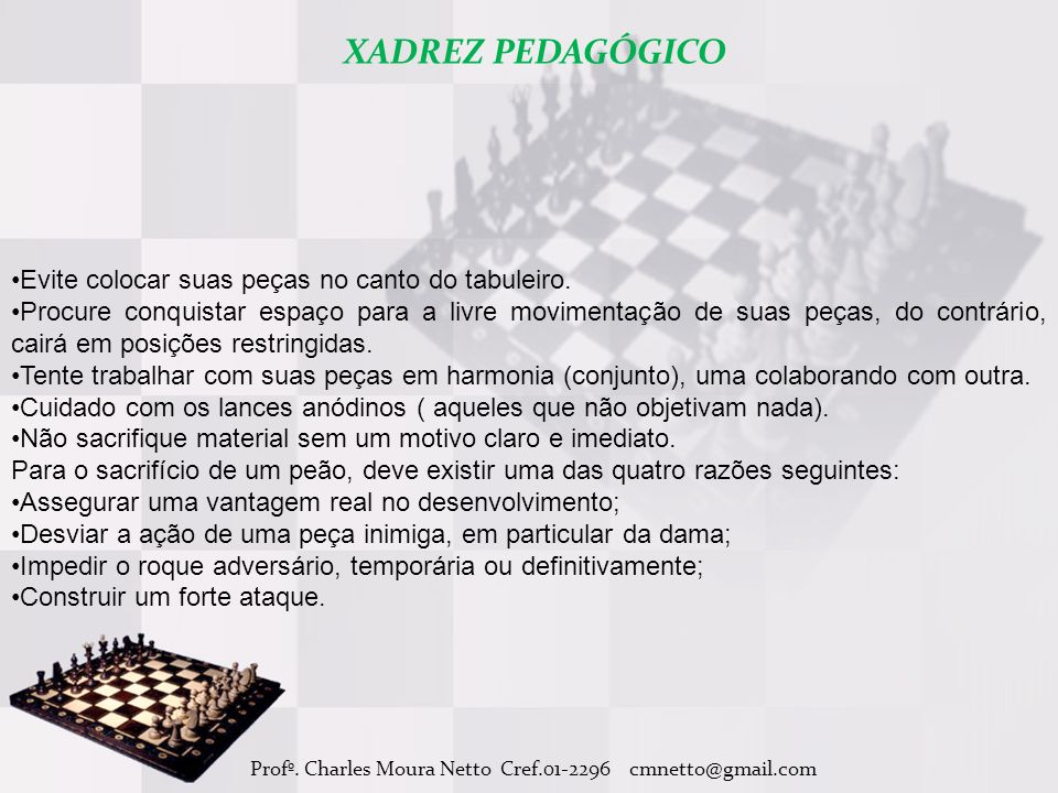 Profº. Charles Moura Netto Cref.01-2296 cmnetto@gmail.com