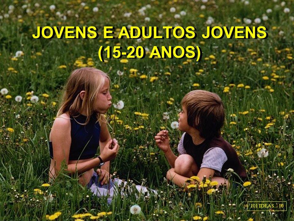 JOVENS E ADULTOS JOVENS (15-20 ANOS)