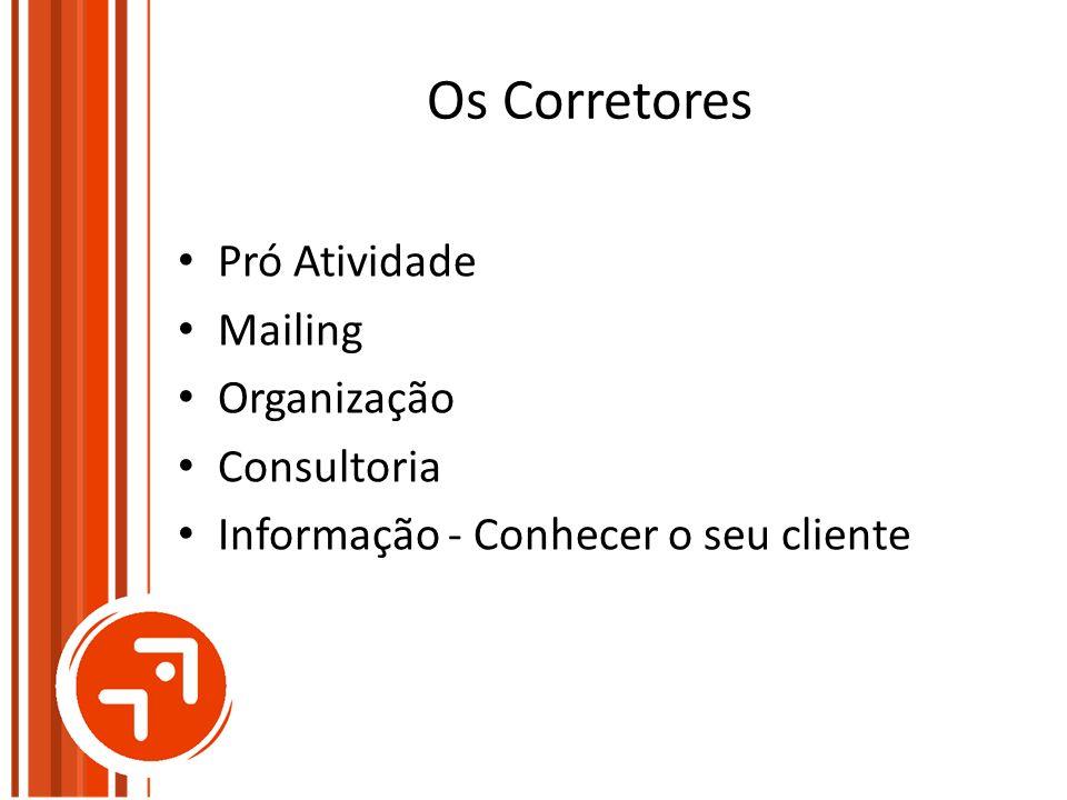 Os Corretores Pró Atividade Mailing Organização Consultoria